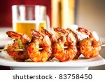 shrimp grilled with beer | Shutterstock . vector #83758450