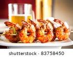 shrimp grilled with beer | Shutterstock . vector #83758450