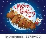 santa and his sleigh flying  ... | Shutterstock .eps vector #83759470