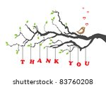 'thank you' greeting card with... | Shutterstock .eps vector #83760208
