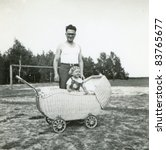 Vintage Photo Of Young Father...