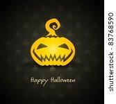 pumpkin for halloween on...   Shutterstock .eps vector #83768590