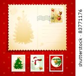Christmas Postcard With Stamps...