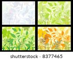 four backgrounds with colors of ... | Shutterstock .eps vector #8377465