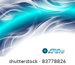 Abstract Background Blue Arc...