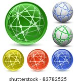 abstract globe icon set.... | Shutterstock .eps vector #83782525