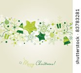 green christmas card with... | Shutterstock .eps vector #83783281