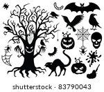 collection of silhouettes for... | Shutterstock .eps vector #83790043