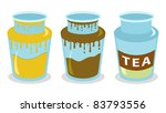 set of three jars  honey ... | Shutterstock .eps vector #83793556