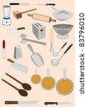 vector drawing of an assortment ... | Shutterstock .eps vector #83796010