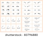 collection of doodle drawing... | Shutterstock .eps vector #83796880