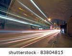 blurred bus light trails in... | Shutterstock . vector #83804815