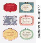 set of vintage frames. vector... | Shutterstock .eps vector #83809177