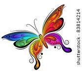 Stock vector vector butterfly design vector illustration 83814214