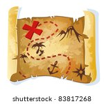 treasure map | Shutterstock .eps vector #83817268