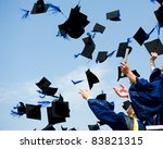 high school graduation hats high | Shutterstock . vector #83821315