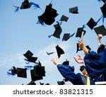 high school graduation hats high   Shutterstock . vector #83821315
