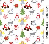 christmas repeating pattern   Shutterstock .eps vector #83821321