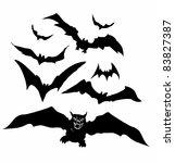 bats illustration | Shutterstock .eps vector #83827387