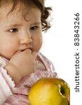 girl eating apple | Shutterstock . vector #83843266