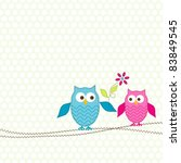 template greeting card  vector... | Shutterstock .eps vector #83849545