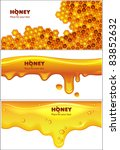 set of eps10 vector honey... | Shutterstock .eps vector #83852632