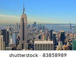 view of midtown manhattan with... | Shutterstock . vector #83858989