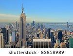 view of midtown manhattan with... | Shutterstock . vector #83858989