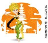 indonesian bali balinese dancer ... | Shutterstock .eps vector #83860156