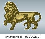 golden lion | Shutterstock .eps vector #83860213