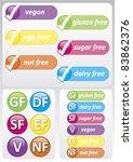 gluten free   selection of... | Shutterstock .eps vector #83862376