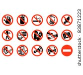 don't sign vector icon... | Shutterstock .eps vector #83871223