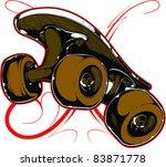 vector tattoo skateboard