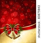christmas background with bells ... | Shutterstock .eps vector #83875843
