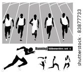 vector illustration .athletes... | Shutterstock .eps vector #83877733