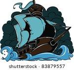 Vector Tattoo Ship