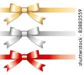set of glossy bows on white... | Shutterstock .eps vector #83883559