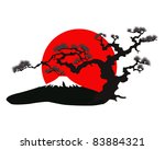 the japanese landscape... | Shutterstock .eps vector #83884321