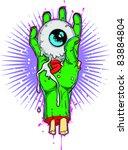 vector tattoo zombie hand | Shutterstock .eps vector #83884804