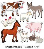 Farm Animals. Vector And...