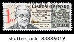 czechoslovakia   circa 1978  a... | Shutterstock . vector #83886019