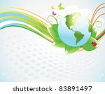 ecology  abstract background | Shutterstock .eps vector #83891497