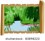the wood river with the... | Shutterstock .eps vector #83898223