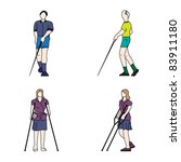 blinded disabled persons  vector | Shutterstock .eps vector #83911180