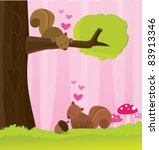 i'm nuts about you  | Shutterstock .eps vector #83913346