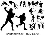 silhouette vector illustration... | Shutterstock .eps vector #8391370