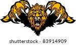 lion mascot pouncing graphic... | Shutterstock .eps vector #83914909