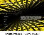 vector  techno  yellow tunnel  ... | Shutterstock .eps vector #83916031
