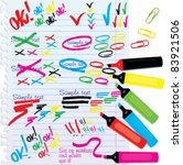 set of different colors markers ... | Shutterstock .eps vector #83921506