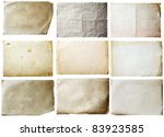 old papers set | Shutterstock .eps vector #83923585